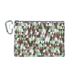 Pattern Triangles Random Seamless Canvas Cosmetic Bag (M)