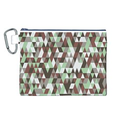 Pattern Triangles Random Seamless Canvas Cosmetic Bag (L)