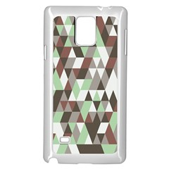Pattern Triangles Random Seamless Samsung Galaxy Note 4 Case (White)