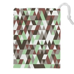 Pattern Triangles Random Seamless Drawstring Pouches (XXL)