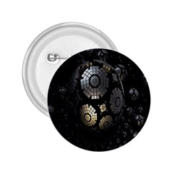 Fractal Sphere Steel 3d Structures 2.25  Buttons
