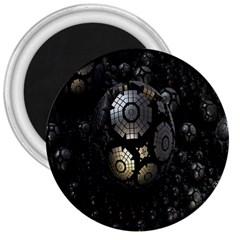 Fractal Sphere Steel 3d Structures 3  Magnets