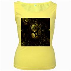 Fractal Sphere Steel 3d Structures Women s Yellow Tank Top