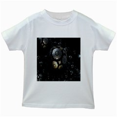 Fractal Sphere Steel 3d Structures Kids White T-Shirts