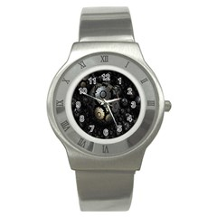 Fractal Sphere Steel 3d Structures Stainless Steel Watch