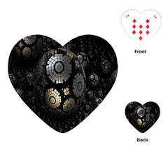 Fractal Sphere Steel 3d Structures Playing Cards (Heart)