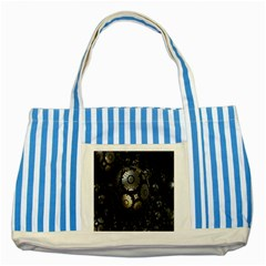 Fractal Sphere Steel 3d Structures Striped Blue Tote Bag