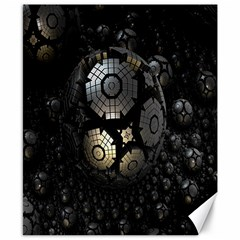 Fractal Sphere Steel 3d Structures Canvas 8  x 10
