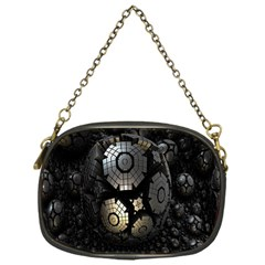 Fractal Sphere Steel 3d Structures Chain Purses (One Side)