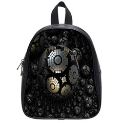 Fractal Sphere Steel 3d Structures School Bags (Small)