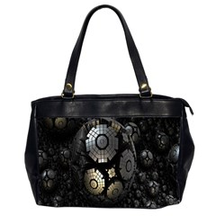 Fractal Sphere Steel 3d Structures Office Handbags (2 Sides)