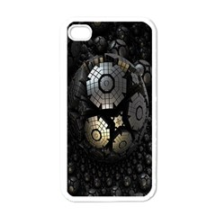 Fractal Sphere Steel 3d Structures Apple iPhone 4 Case (White)