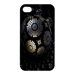 Fractal Sphere Steel 3d Structures Apple iPhone 4/4S Hardshell Case