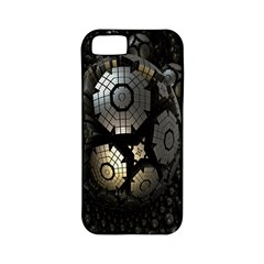 Fractal Sphere Steel 3d Structures Apple iPhone 5 Classic Hardshell Case (PC+Silicone)