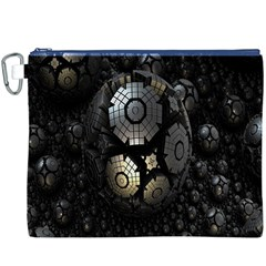 Fractal Sphere Steel 3d Structures Canvas Cosmetic Bag (XXXL)