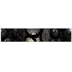 Fractal Sphere Steel 3d Structures Flano Scarf (Large)