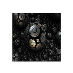 Fractal Sphere Steel 3d Structures Satin Bandana Scarf