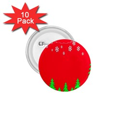 Merry Christmas 1.75  Buttons (10 pack)