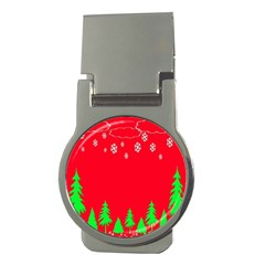 Merry Christmas Money Clips (Round)