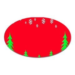 Merry Christmas Oval Magnet