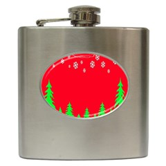 Merry Christmas Hip Flask (6 oz)