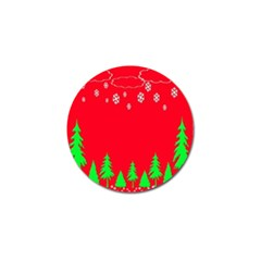 Merry Christmas Golf Ball Marker (4 pack)