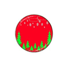 Merry Christmas Hat Clip Ball Marker (4 pack)