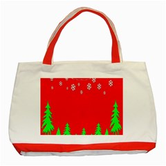 Merry Christmas Classic Tote Bag (Red)