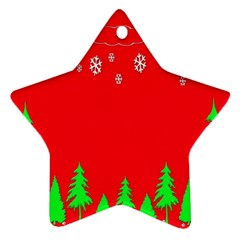 Merry Christmas Star Ornament (Two Sides)