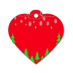 Merry Christmas Dog Tag Heart (Two Sides)