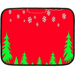 Merry Christmas Double Sided Fleece Blanket (Mini)