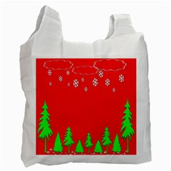 Merry Christmas Recycle Bag (One Side)