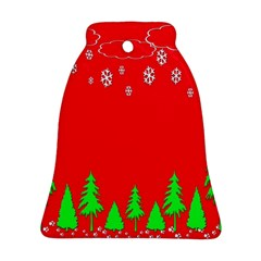 Merry Christmas Bell Ornament (Two Sides)