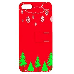 Merry Christmas Apple Iphone 5 Hardshell Case With Stand