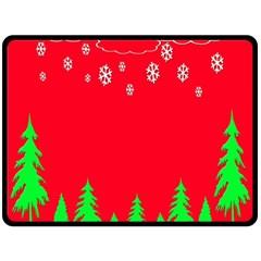Merry Christmas Double Sided Fleece Blanket (Large)