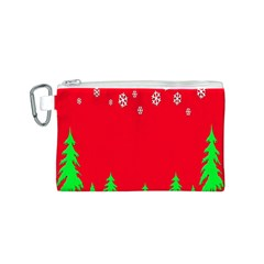 Merry Christmas Canvas Cosmetic Bag (S)