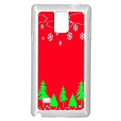 Merry Christmas Samsung Galaxy Note 4 Case (White)