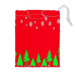 Merry Christmas Drawstring Pouches (Extra Large)