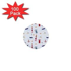 Seaside Beach Summer Wallpaper 1  Mini Buttons (100 pack)