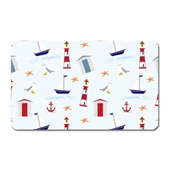 Seaside Beach Summer Wallpaper Magnet (Rectangular)