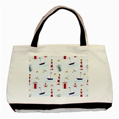 Seaside Beach Summer Wallpaper Basic Tote Bag