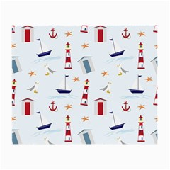 Seaside Beach Summer Wallpaper Small Glasses Cloth (2-Side)