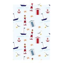 Seaside Beach Summer Wallpaper Shower Curtain 48  x 72  (Small)