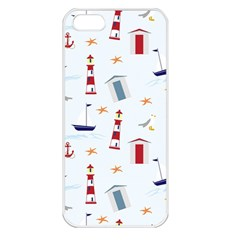 Seaside Beach Summer Wallpaper Apple iPhone 5 Seamless Case (White)