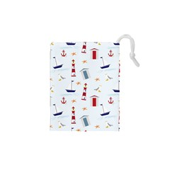 Seaside Beach Summer Wallpaper Drawstring Pouches (XS)
