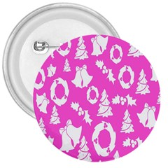 Pink Christmas Background 3  Buttons