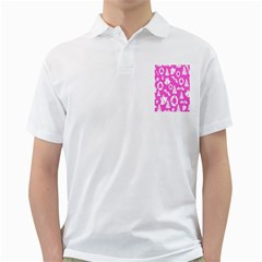 Pink Christmas Background Golf Shirts