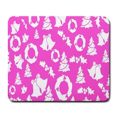 Pink Christmas Background Large Mousepads