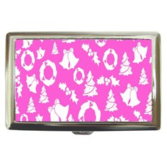 Pink Christmas Background Cigarette Money Cases
