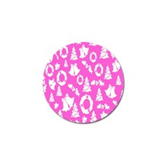 Pink Christmas Background Golf Ball Marker (4 pack)